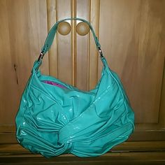 Purse Turquoise purse with hot pink lining Candie's Bags