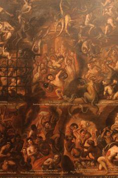 Penas del infierno Autor anónimo Siglo XVIII Óleo sobre tela 262 x 230 cm.   Pinacoteca de La Profesa