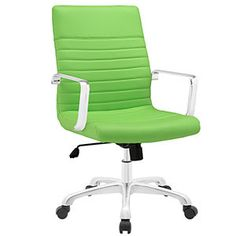 Finesse Mid Back Office Chair Bright Green