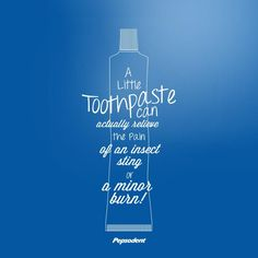 Sometimes toothpaste does more than protect your mouth! #bite #burn #sting #parenting
