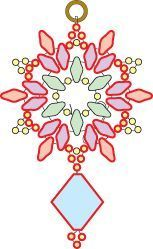 Seed bead jewelry Deb Roberti's free Snowflake earring pattern - more superduos. Discovred by : Linda Linebaugh Seed Bead Patterns, Beaded Jewelry Patterns, Beading Patterns, Bracelet Patterns, Seed Bead Tutorials, Free Beading Tutorials, Embroidery Patterns, Seed Bead Jewelry, Seed Bead Earrings