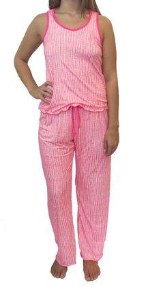 Static Coral Pajama Pants Set