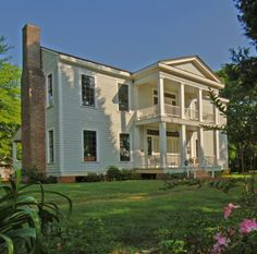 """Myrtle-Vale': 1854 mansion of Colonel John Dewberry (1794-1877). Near Tyler, TX."