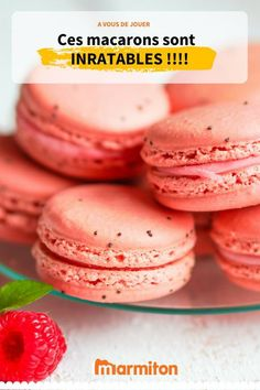 You thought it was difficult to make macaroons? With this recipe of unbreakable macaroons, you will succeed Peach Cookies, Macaron Cookies, Macaron Thermomix, How To Make Macaroons, Nutella Macarons, Cookie Recipes, Dessert Recipes, Macaron Flavors, Strawberry Shortcake Recipes