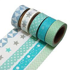 K-LIMIT 5 Set Washi Tape rouleaux de ruban adhésif décoratif masking tape scrapbooking, DIY 9215