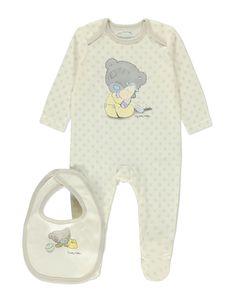 Unisex Star Tiny Tatty Teddy Sleepsuit and Bib Set | Baby | George at ASDA