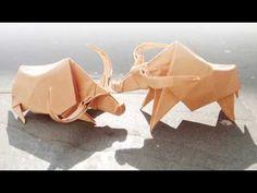 "Hướng dẫn gấp ""Con Trâu"" - YouTube Gap, Dollar Bill Origami, Red Packet, Easy Paper Crafts, Wedding Stationary, Paper Art, Buffalo, Youtube, Blog"