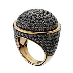 18k gold plate with onyx #ring