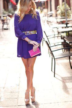 Emily Maynard looking fabulous in our purple Rachel dress!  $47.50  escloset.com
