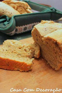 Casa Com Decoração- Blog de Decoração: Pão integral com linhaça