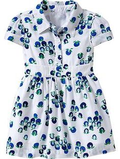 Floral-Print Shirt Dresses for Baby | Old Navy - a baby shirtdress? oh my gosh.