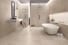 MINIMALISTICKÁ KÚPEĽŇA - Puristické kúpeľne / BENEVA Best Bathroom Tiles, Ceramic Tile Bathrooms, Bathtub Tile, Bathroom Tile Designs, Ceramic Wall Tiles, Modern Bathroom Design, Bathroom Flooring, Bathroom Wall, Ceramics Tile