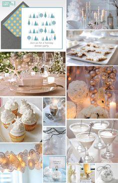 Inspo? Winter Party - All white & Ice blue w/ snowflakes, snowmen, & penguins
