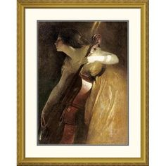 Global Gallery 'A Ray of Sunlight (The Cellist)' by John White Alexander Framed Painting Print Size: