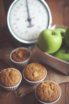 Apple Pie Protein Muffins