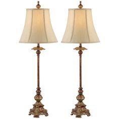 Juliette Light Bronze Buffet Table Lamp Set of 2 - Tall Table Lamps, Buffet Table Lamps, Tiffany Table Lamps, Table Lamps For Bedroom, Room Lamp, Table Lamp Sets, Bedroom Decor, Dining Table, Tuscan Decorating