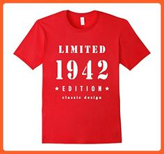 Mens 75th Birthday T-Shirt Vintage Made in 1942 Gift ideas Guys XL Red - Birthday shirts (*Partner-Link)