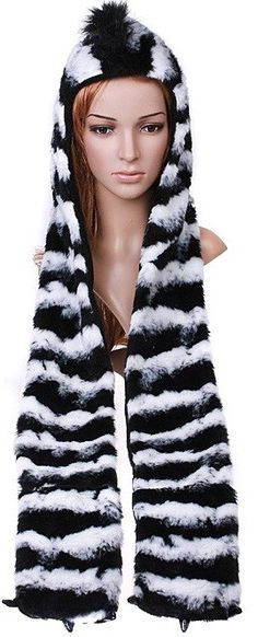 Multifunctional Cartoon Animal Timber Zebra Plush Soft Warm Cap Hat 3 in 1 Function Costume Accessories, Women Accessories, Fancy Dress Hats, Funny Hats, Hat Making, Hats For Men, Caps Hats, Scarf Wrap, Multifunctional