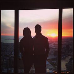 The views of melbourne. Eureka Skydeck