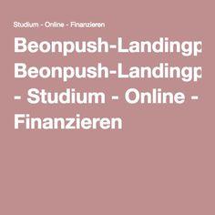 Beonpush-Landingpage - Studium - Online - Finanzieren