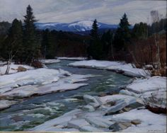 """Winter Stream,"" Aldro Thompson Hibbard, oil on canvas, 24 x 30"", private collection."