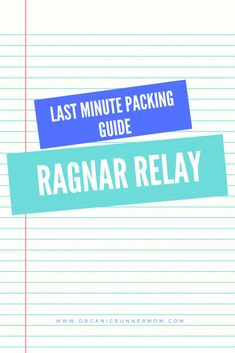Last minute packing ideas for a Ragnar Relay - Organic Runner Mom Clif Bars, Rain Pants, Sports Skirts, Packing Ideas, Running Inspiration, Ragnar, Just Run, Warm Outfits, Last Minute