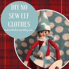 DIY No Sew Elf Clothes