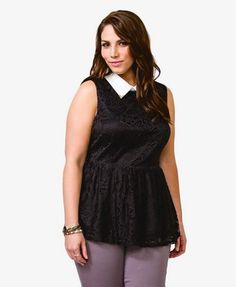 Metal Trim Lace Top  $22.80