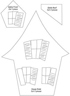 Free halloween templates krewella kreations cat spider haunted house template printable assemble the small gable window in the same way that the pronofoot35fo Gallery