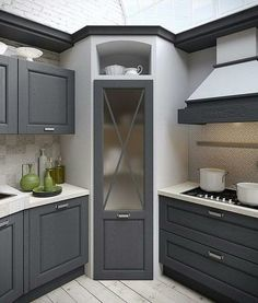 ✔ 44 best small kitchen design ideas for your tiny space 17 - Kitchen Pantry Cabinets Kitchen Pantry Design, Home Decor Kitchen, Kitchen Furniture, Kitchen Storage, Home Kitchens, Kitchen Organization, Kitchen Small, Cabinet Storage, Kitchen Hacks