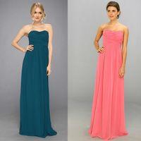 Sleeveless Elegant Simple pink Cheap Bridesmaid Dresses vestido para madrinha-79$