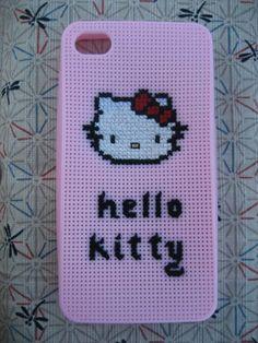 iphone 4 4S case hello kitty pink cross stitch. $15.49, via Etsy.
