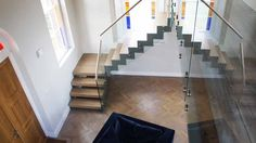 Modern Staircase Newbury in a half turn configuration with two platforms