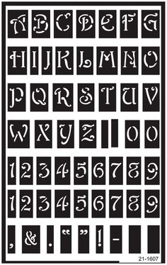 stencils free entire alphabet over reusable glass etching stencils 5x8