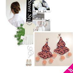 Orecchini realizzati con passamaneria, pietre naturali e cristalli Swarovski. Creazioni uniche, senza copie!