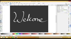 Calligraphy, Wacom tablet and Inkscape