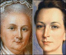Martha Washington. Age regressed to when she married George Washington. Suddenly I understand why he married her. WOW.