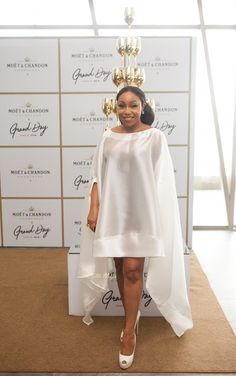 Beverly Naya, Rita Dominic And Others At The Star-Studded Moet Grand Day Party African Wear Dresses, Latest African Fashion Dresses, African Print Fashion, Africa Fashion, African Attire, Lace Dress Styles, Nice Dresses, African Fashion Designers, African Traditional Dresses