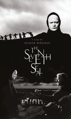 10 filmes para conhecer o cinema de Ingmar Bergman. Poster do filme O Sétimo Selo. Horror Movie Posters, Cinema Posters, Movie Poster Art, Horror Movies, Beau Film, Bergman Movies, Bergman Film, The Seventh Seal, Ingmar Bergman