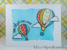 Hot Air Balloon Graduation Card
