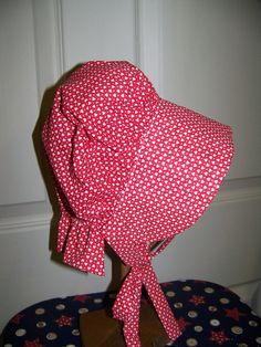 Baby BonnetPrairie or Sun Bonnet with soft calico by civilwarlady, $12.95