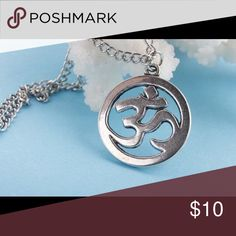 A New Alloy OM Necklace A New Silver Plated Om Necklace Jewelry Necklaces