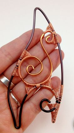Elf Ear Tips  Copper and Brown Wire  Ear by TwistedEmporium, £20.00