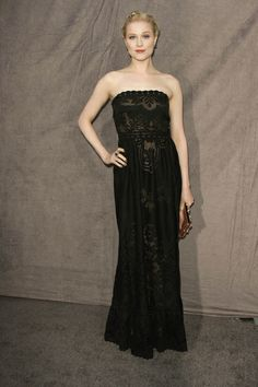 Evan Rachel Wood again serving it in Valentino. Wow.