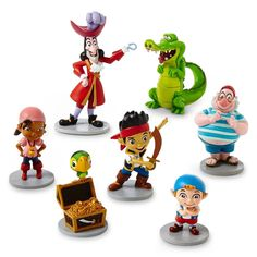 Disney Parks Jake Neverland Pirates Figurine Playset Play Set Cake Topper *** You can get more details by clicking on the image.