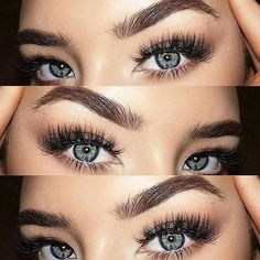 Baby blues and great brows! #Goals