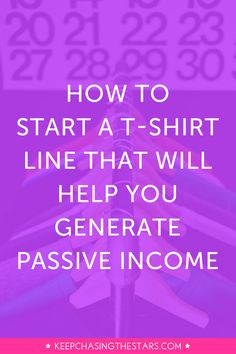 Contrary to what you've heard courses aren't the only way to generate passive income. And guess what? You can generate passive income by selling t-shirts. Click through to learn how to launch a t-shirt line in 10 steps. Work From Home Jobs, Make Money From Home, Way To Make Money, Home Based Business, Business Tips, Online Business, Business Quotes, Business Opportunities, Craft Business