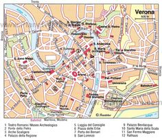 Modern map of Verona