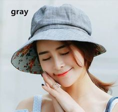Leisure bow bucket hat for women spring lining flower sun hats   Supernatural Style