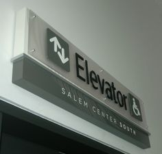 Architectural Signs, way finding, Salem Center.OR